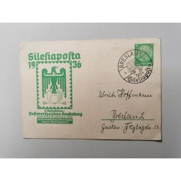 Kartka Breslau - Wrocław Deutsche Reich z 1942 r.