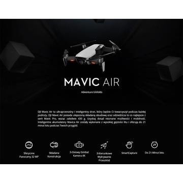 DJI MAVIC AIR FLY MORE COMBO ARCTIC WHITE >>>>>>>>