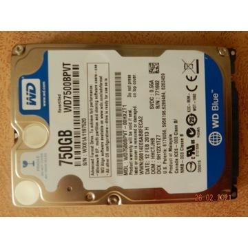 Dysk HDD 750 GB używany