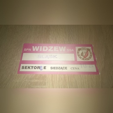 Bilet z meczu  Widzew Łódź - Śląsk Wrocław