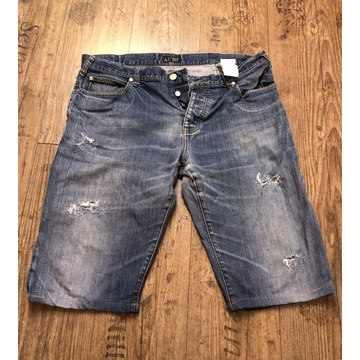 Armani krótkie spodenki jeansowe W38