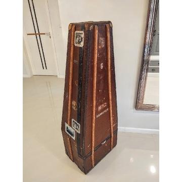 Kufer case na kontrabas antyk retro oldschool