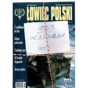 2003,ŁOWIEC POLSKI ,NUMERY JAK NA SKANIE,SZT.6