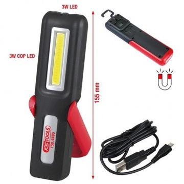 Lampa warsztatowa 3 Watt COB LED KS TOOLS