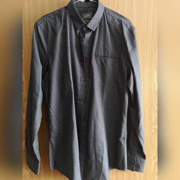 Koszula Montego granatowa slim fit 39/40