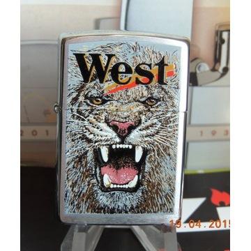 NOWA ZIPPO z 2001 r. Papierosy WEST TIGER # 8