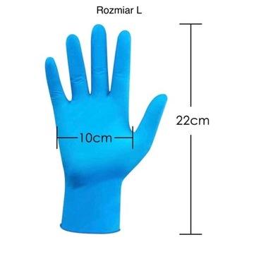 Rękawice nitrylowe mega paka 200 sztuk
