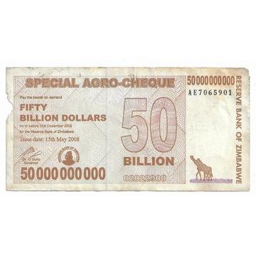 Zimbabwe 50000000000Dolarów 2008r