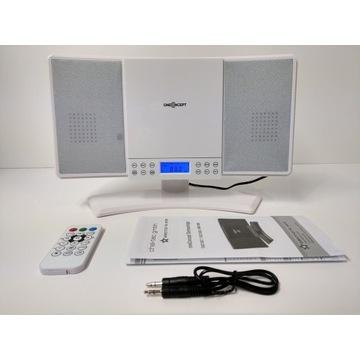 Mini wieża OneConcept V14 CD audio/MP3 radio zegar
