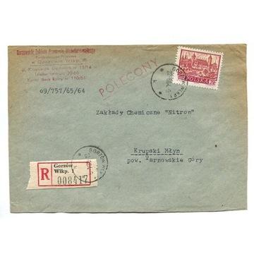 Gorzów Wlkp.1 - Koperty polecone z lat 1964-76