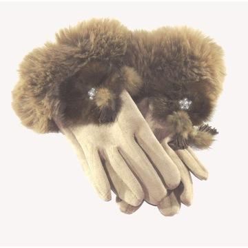 Rękawiczki damskie zfuterkiem