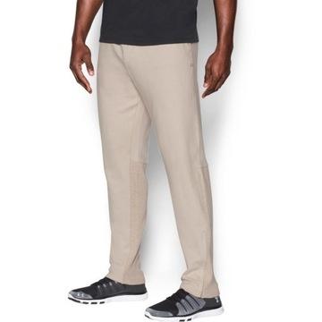 Spodnie dresowe Under Armour Ali Knit beżowe L