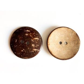 Guziki z kokosa guziki kokosowe 50mm
