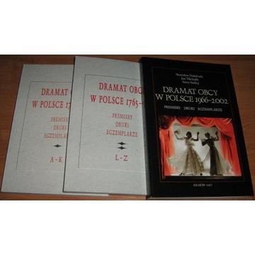 DRAMAT OBCY W POLSCE 1766-2002, t.1-3, s.1350 nowe