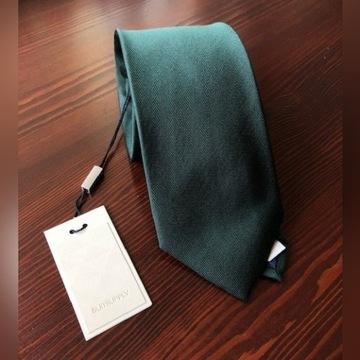 NOWY Zielony krawat SuitSupply- 100% jedwab