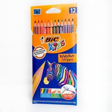 Kredki Eco Evolution Stripes 12 szt BIC KIDS