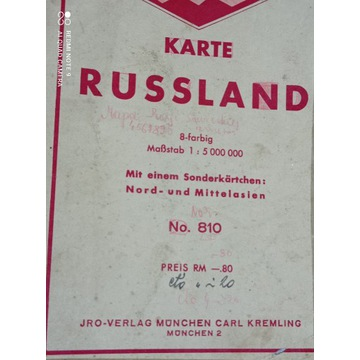 JRO karta 810 RUSSLAND 1940  ...  szlak wojenny ?