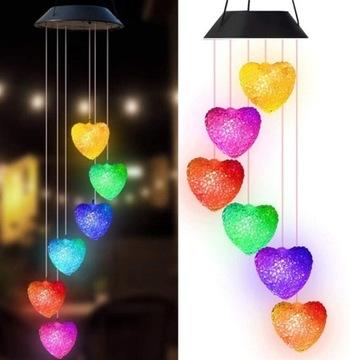 SERDUSZKA LAMPKI LED WIATR NA SZCZĘŚCIE Feng Shui