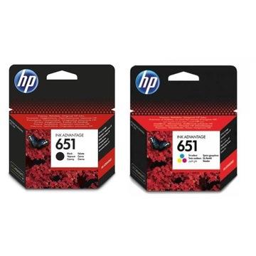 HP 651 zestaw czarny + kolorowy