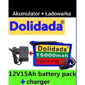 Akumulator 12V 15000mah litowo-jonowy li-ion 15Ah
