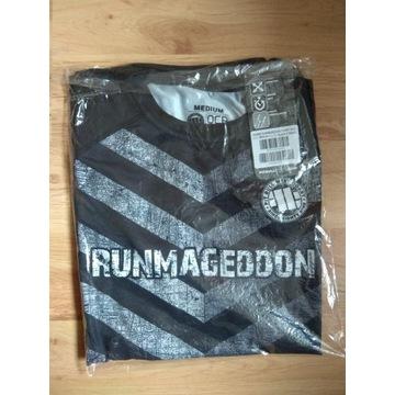 Runmageddon koszulka t-shirt sportowy paski damski