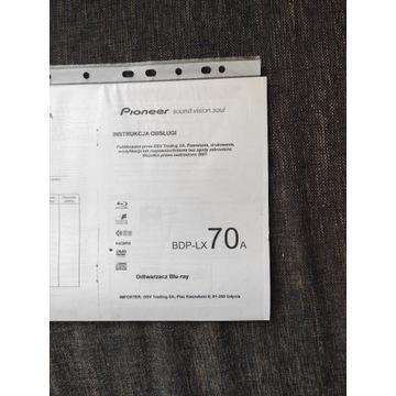 Pioneer BDP-LX70 instrukcja PL