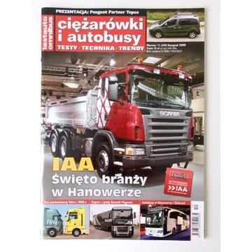 Magazyn Ciężarówki i autobusy Nr 11 Listopad 2008