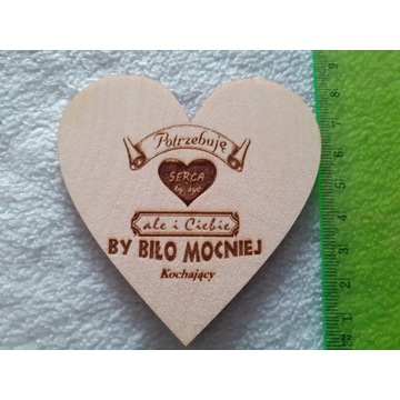 Serce na Walentynki 8 cm