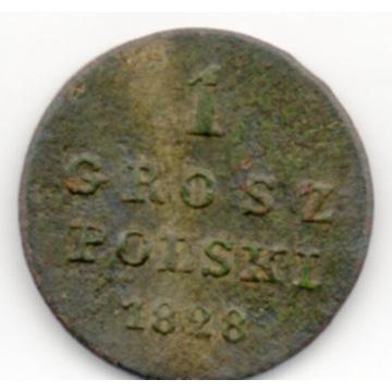 KRÓLESTWO POLSKIE 1 GROSZ POLSKI 1828