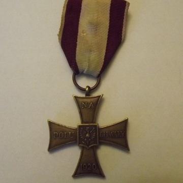Krzyż Walecznych 1920 PSZ na zachodzie oryginał