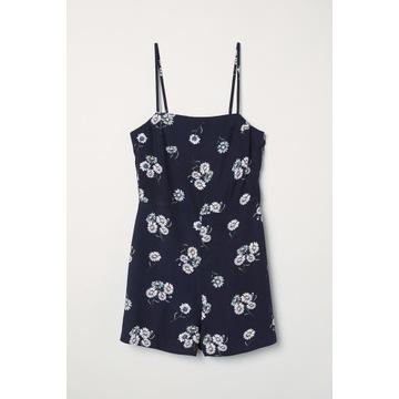 Kombinezon damski H&M bez rękawów letni kwiaty 36S