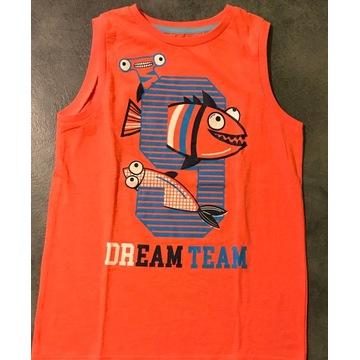 Super koszulka bez rękawów z rybką 140