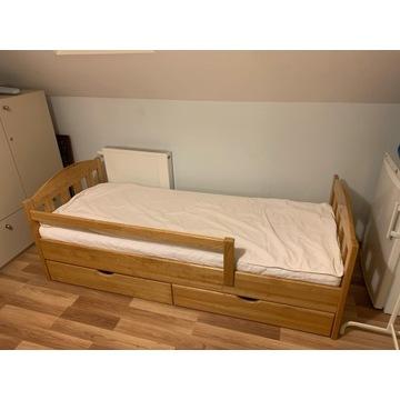 Łóżko drewniane dziecięco-młodzieżowe mat. 80x190