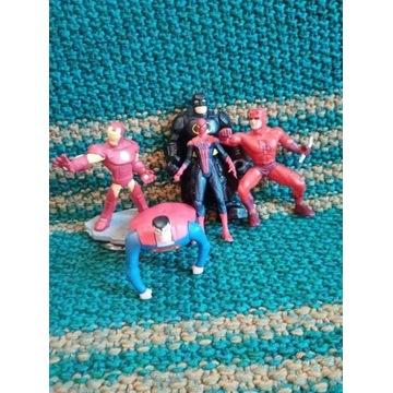 5 figurek Batman Superman Iron Man Spiderman