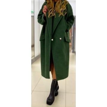Płaszcz oversize by o la la zielony