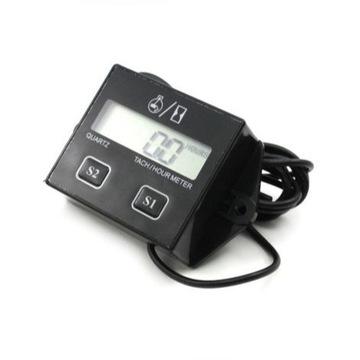 Cyfrowy tachometr z funkcja zegara LCD wyswietlacz