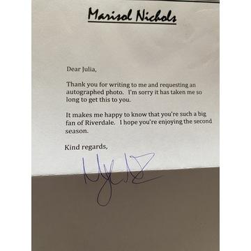 Oryginalny autograf Marisol Nichols Riverdale