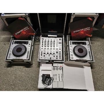 Konsola dj pioneer DJM 600S+2X CDJ800MK2+TRAKTOR