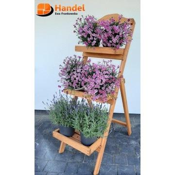 Meble ogrodowe drewniane kwietnik zioła kwiaty
