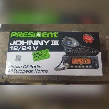 CB Radio President JOHNNY III 12V / 24V NOWE!