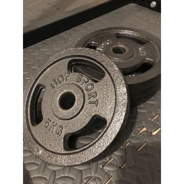 Obciążenia żeliwne 4 sztuki po 5 kg