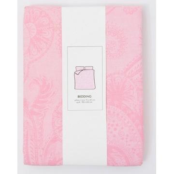 Pościel bawełniana rożowa MANDALA 160x200/70x80