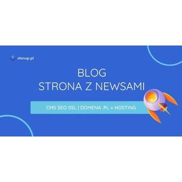 STRONA INTERNETOWA Z NEWSAMI/BLOG | HOSTING + .PL