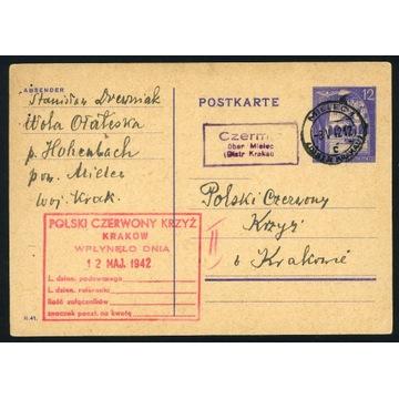 1942 PCK Czerwony Krzyż Red Cross Mielec Czermin