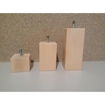 Nogi kwadratowe drewniane bukowe 15 cm