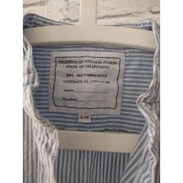 Koszula więzienna USA S/M uniform pasiasta bawełna