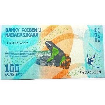 BANKNOT DO KOLEKCJI MADAGASKAR 100 ARIARY  bankowy