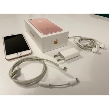 iPhone 7 stan IDEALNY pink gold