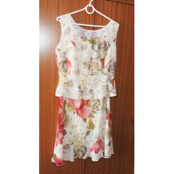 Komplet dwuczęściowy damski sukienka + bluzka r.38