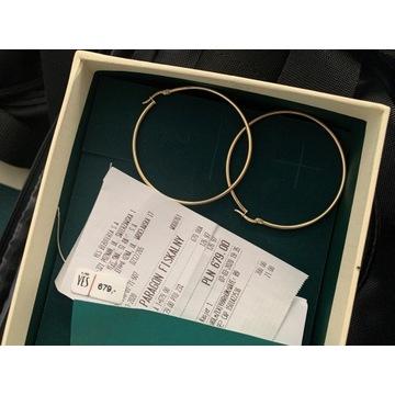 Złote kolczyki YES koła - Cena w sklepie 679 pln